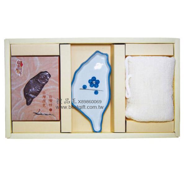 檜木台灣皂+台灣皂盤+絲瓜布